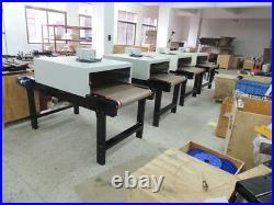 US 220V T-shirt Conveyor Tunnel Dryer 5.9ft Longx25.6'' Belt for Screen Printing