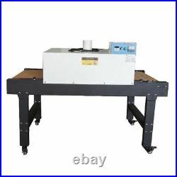 US Stock T-shirt Conveyor Tunnel Dryer 25.6x39 Belt 220V Screen Printing Dryer
