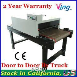 USA 5.9ft x 25.6 Belt Small t shirt Silk Screen Printing Conveyor Tunnel Dryer