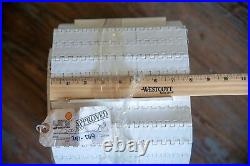 Uni Chain Flighted White Plastic Conveyor Chain Belt 251-069 8 Wide X 13' Long