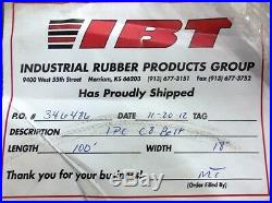 Unknown Brand C8 Conveyor Belt, 100' L, 18 W, 0.125 Thick, Black Nitrile