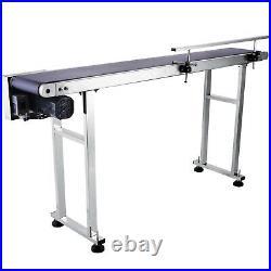 VEVOR 59''x 7.8'' Conveyor PVC Belt Single Guardrail 60W MOTO