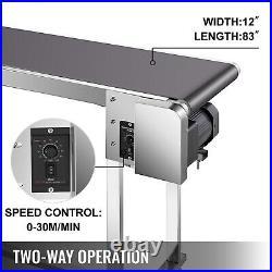 VEVOR Belt Conveyor PVC Conveyor Belt 82''x12'' Industrial Motorized Conveyor