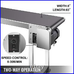 VEVOR Belt Conveyor PVC Conveyor Belt 82''x8'' Industrial Motorized Conveyor