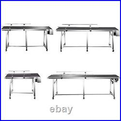 VEVOR PVC Belt Conveyor, 110V, Length (47/71/82/94), Width (8/12/16/20'')