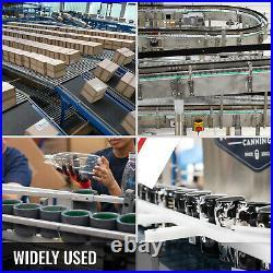 VEVOR PVC Belt Conveyor 47'' x 16'' Industrial Powered PVC Conveyor Belt 110V
