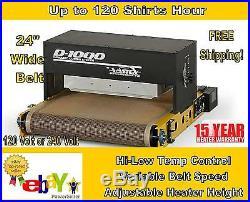 Vastex D-1000 26 Belt by 48 length Table Top Conveyor Dryer Screen Printing
