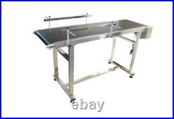 Vertical Belt Conveyor 59x15.7 110V Motor Aluminum Alloy Black PVC
