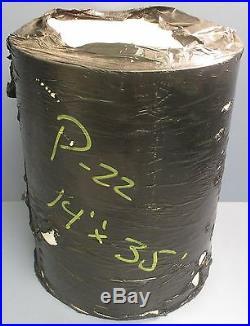 White 135 RMP COS Rubber PVC Blend P-22 Conveyor Belt 35' Length 14 Width NWOB