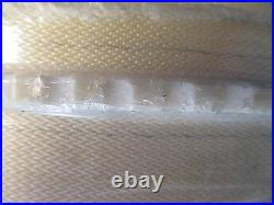 White PVC Conveyor Belt 40' Length 25-1/2 Width With Rubber Cleating NWOB