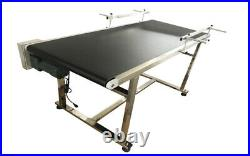 Wider Electric Conveyor with black PVC Belt Size 59x23.6inch 110V 250W