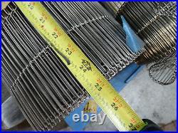 Wire Conveyor Belt, Stainless, 25in x 25ft, Flat Flex, Food Grade FDA