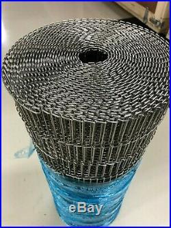 WireBelt Stainless Steel Mesh Conveyor Belt Flat-Flex 3857SS -24in x 38ft New
