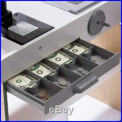 Wooden Grocery Store Conveyor Belt Card Swipe Machine Cash Drawer Kids Toy