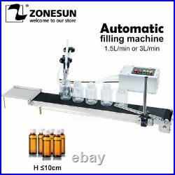 ZONESUN Automatic Electrical Conveyor Belt Single Head Liquid Filler Can Sense