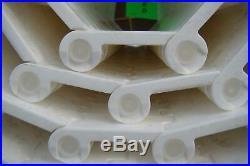 (qty Of 12)habasit Plastic Mod Conv Belt Flat Top Polyprpylene White 10'x20